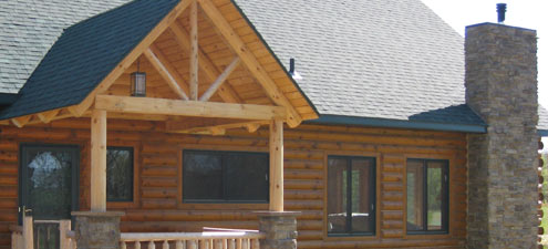 log home additions MN