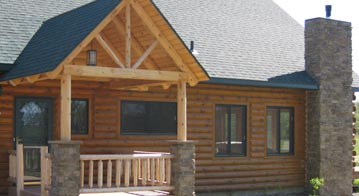 log home remodel