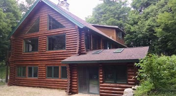 log home additions