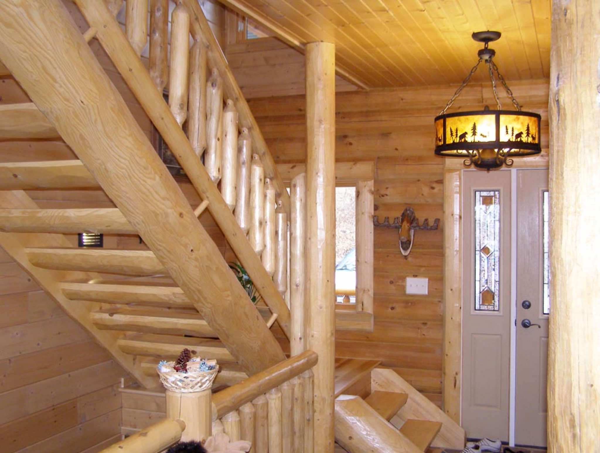 Superb Log Railings And Stairs Are Great For That One Of A Kind Look That You Can  Only Get With Log.